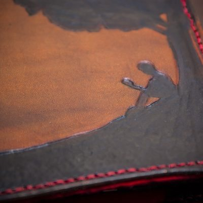 My new handmade leather Kindle 3 case