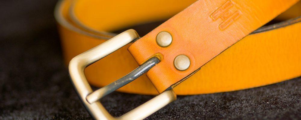Belt #2 – a hand-cut yellow leather belt