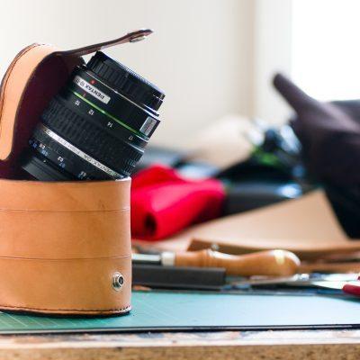Handmade Leather Lens Case for Pentax 10-17mm Fisheye