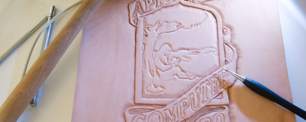 Tutorial: Carving the original Apple logo into leather
