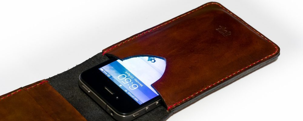 iPhone Flip Wallet: Whiskey