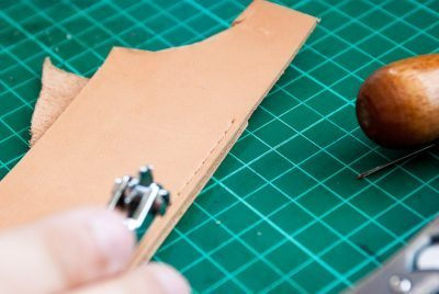 How to hand sew thick leather | High on Glue