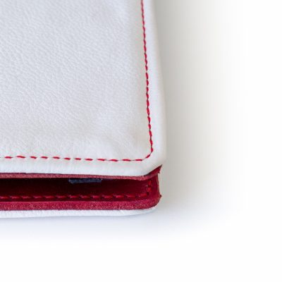 White Soft Leather Cover for Kindle Touch