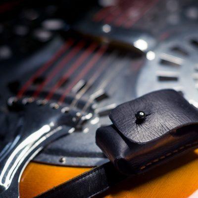 Small Bottleneck Holster for Guitar Strap