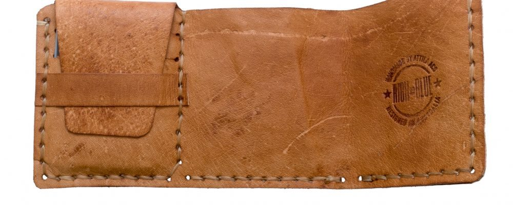 "Making a leather wallet based on ""The Secret Life of Walter Mitty"""