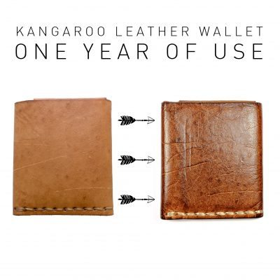 One Year Old Leather Wallet Ageing